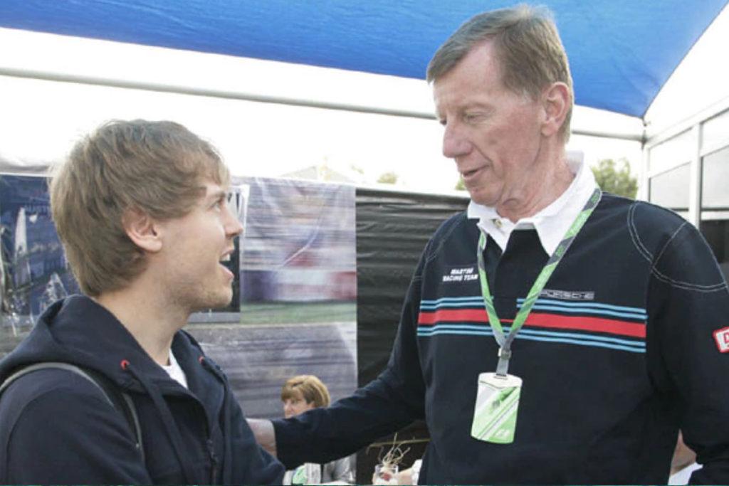 Sebastian Vettel und Walter Röhrl