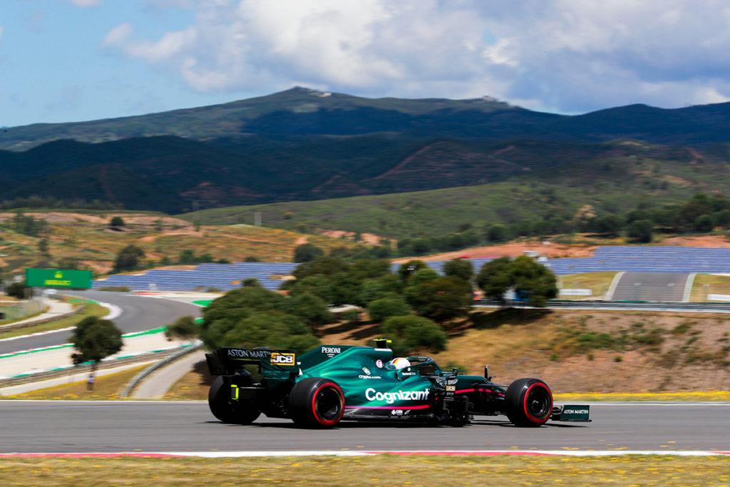 Formel 1 Aston Martin Sebastian Vettel Portugal GP Quali 2021