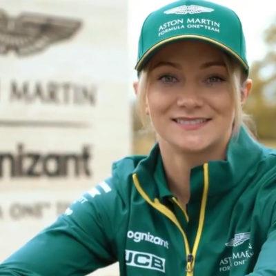 Formel 1 Aston Martin Jessica Hawkins