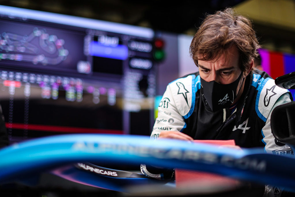 Formel 1 Fernando Alonso Alpine Portugal GP 2021