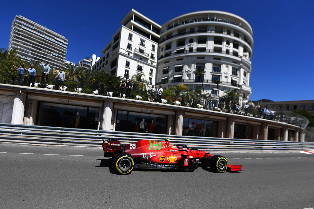 Formel 1 Ferrari Carlos Sainz Monaco GP FP1