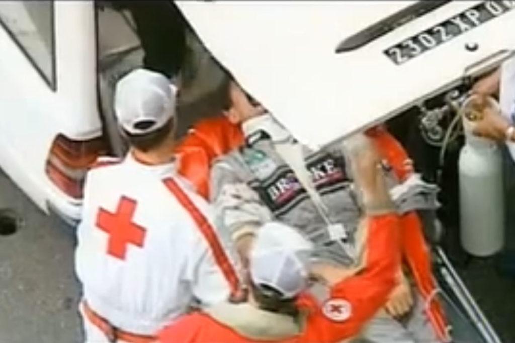 Formel 1 Karl Wendlinger Crash Monaco