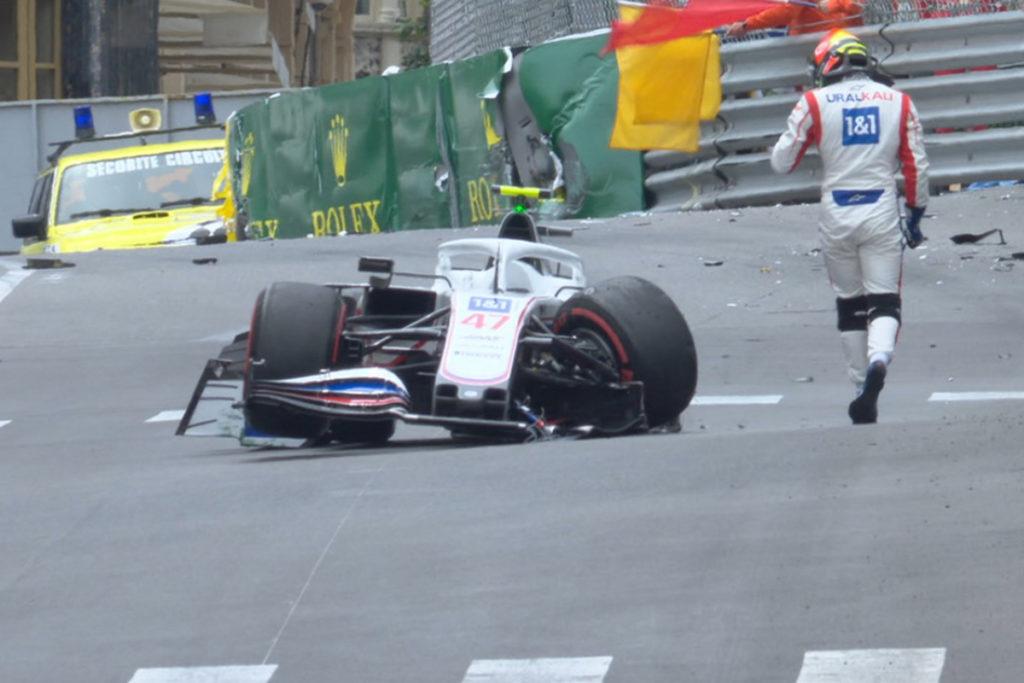 Formel 1 Mick Schumacher Crash Monaco GP FP3