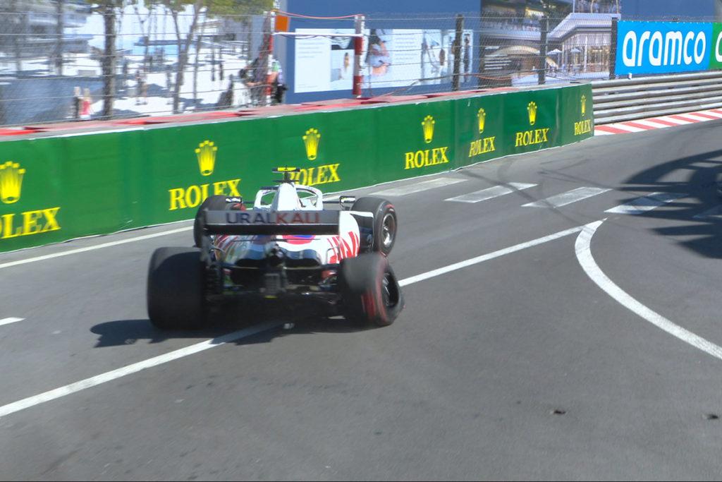 Formel 1 Mick Schumacher Haas Monaco GP 2021 Crash FP2