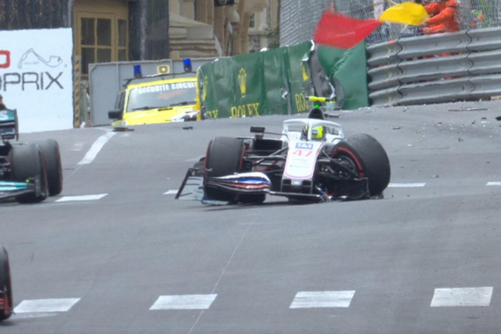 Formel 1 Mick Schumacher Haas Monaco GP FP3 Crash