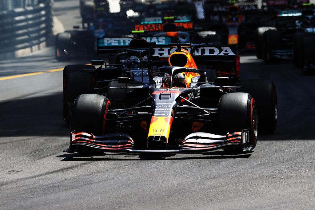 Formel 1 Monaco GP Start Max Verstappen Red Bull 2021