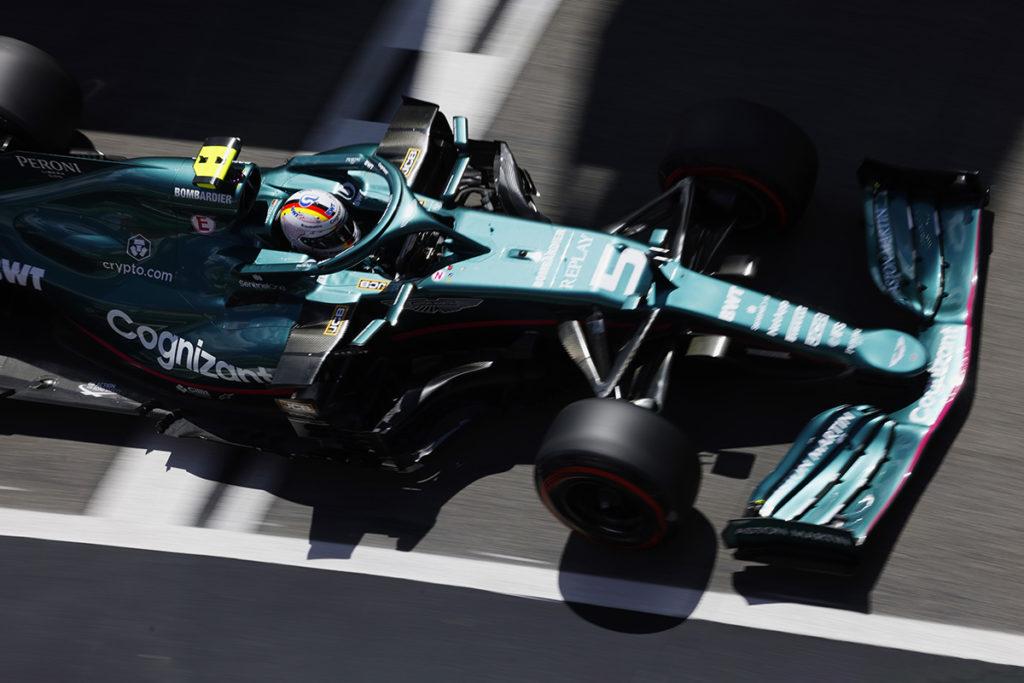 Formel 1 Sebastian Vettel Aston Martin Portugal GP 2021 Quali
