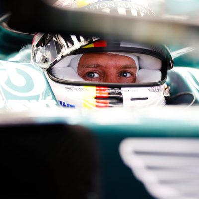 Formel 1 Sebastian Vettel Aston Martin Spanien GP 2021 FP1