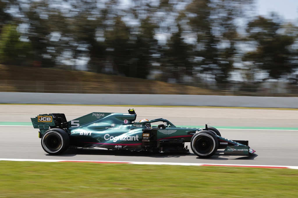 Formel 1 Sebastian Vettel Aston Martin Spanien GP 2021 FP2