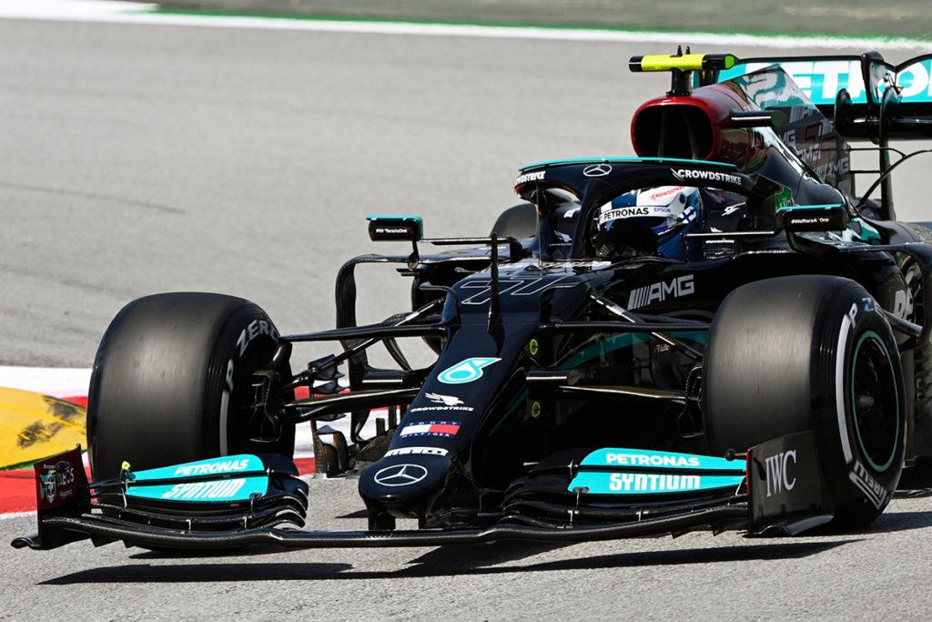 Formel 1 Valtteri Bottas Mercedes Spanien GP 2021 FP1