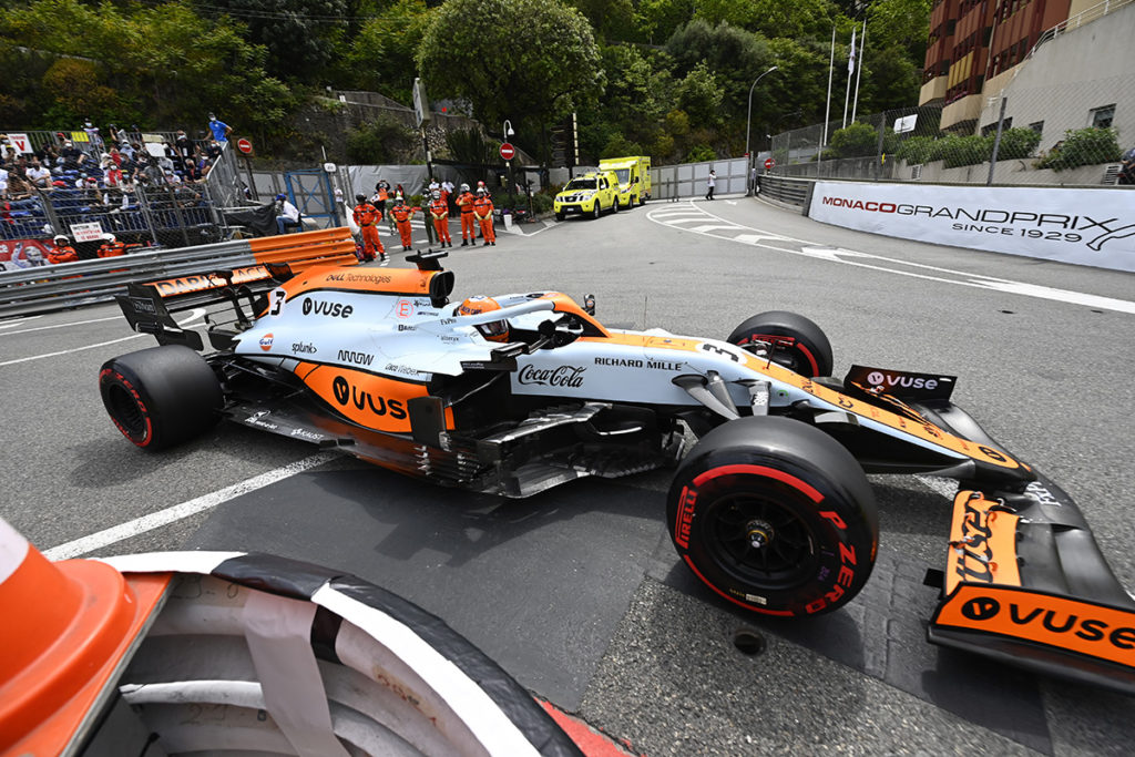 Formel 1 Daniel Ricciardo McLaren Monaco GP Quali 2021