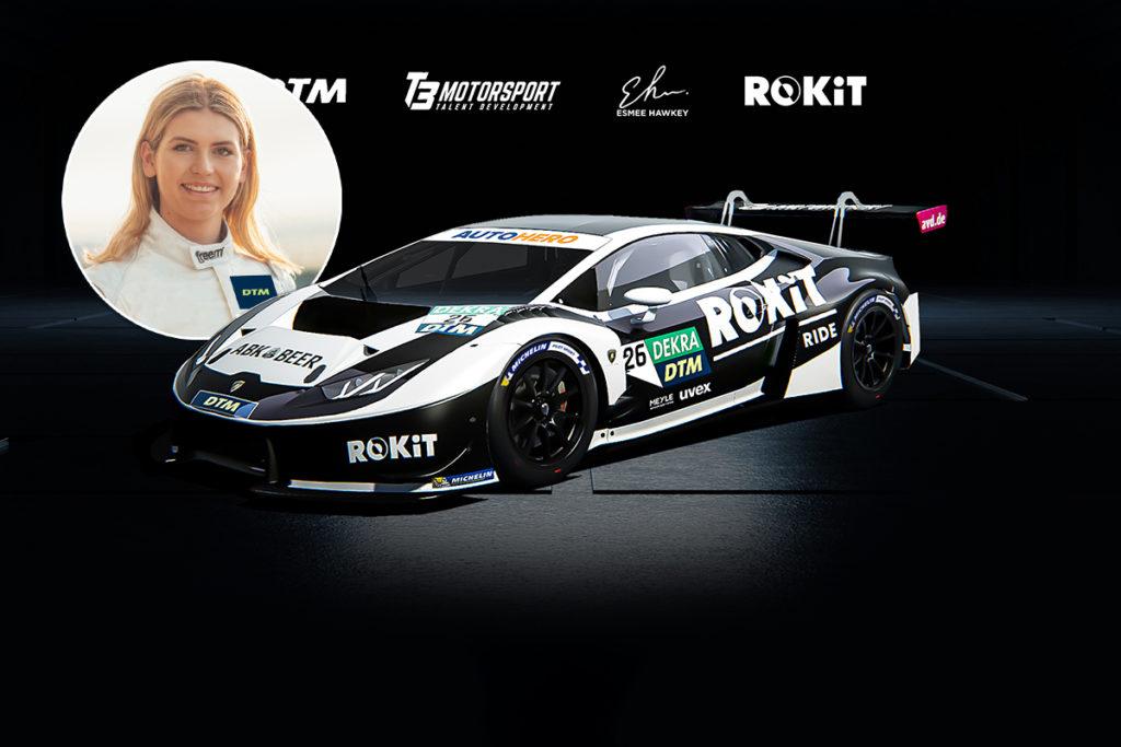 Esmee Hawkey DTM 2021 Lamborghini Huracan GT3 T3 Motorsport