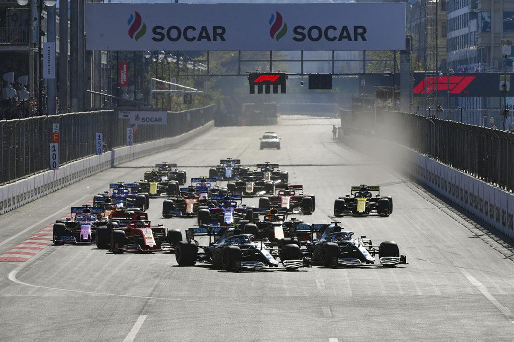 Formel 1 Aserbaidschan GP Baku 2019 Gerade