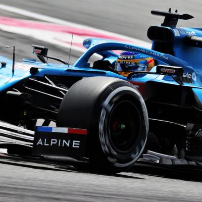 Formel 1 Fernando Alonso Alpine Frankreich GP 2