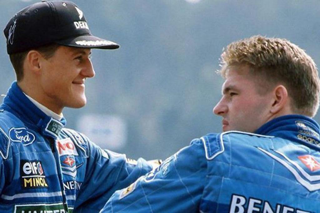 Jos Verstappen und Michael Schumacher 1994. Credit: Twitter
