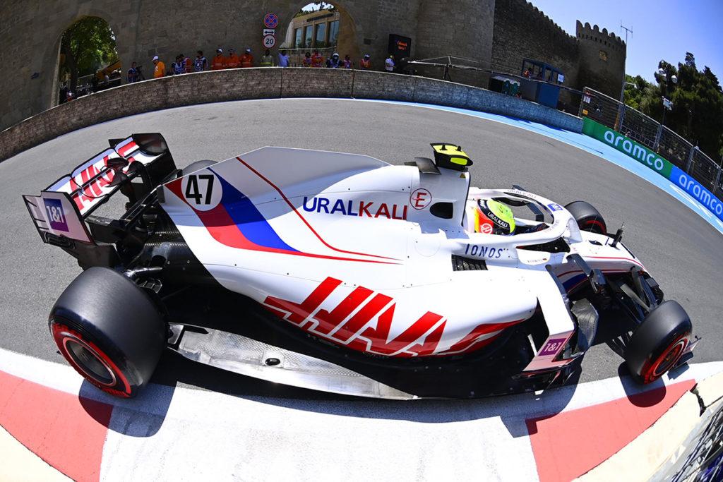 Formel 1 Mick Schumacher Aserbaidschan GP FP1 2021