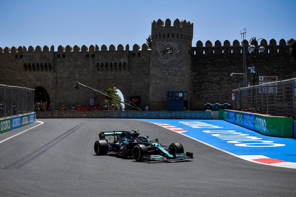 Formel 1 Sebastian Vettel Aserbaidschan GP Aston Martin FP1