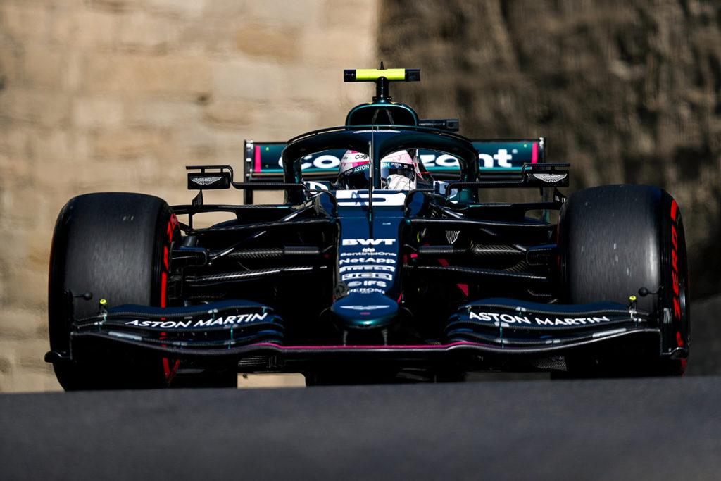 Formel 1 Sebastian Vettel Aston Martin Aserbaidschan GP 2021 Quali