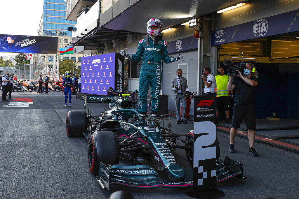 Sebastian Vettel Formel 1 Aston Martin Baku 2021