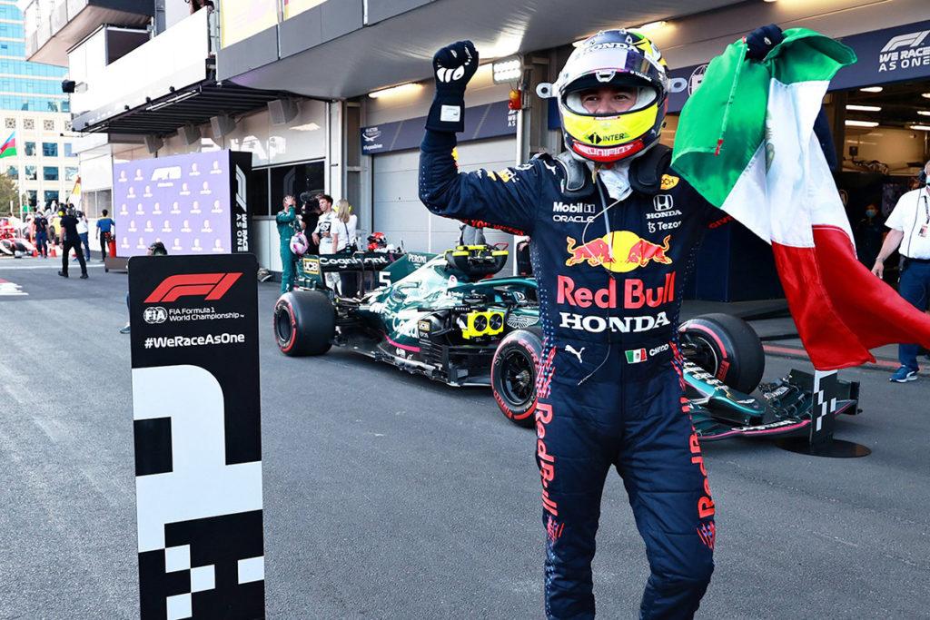 Formel 1 Sergio Perez Aserbaidschan GP 2021 Rennen 01