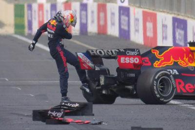 Formel 1 Verstappen Red Bull Baku Reifenschaden 2021