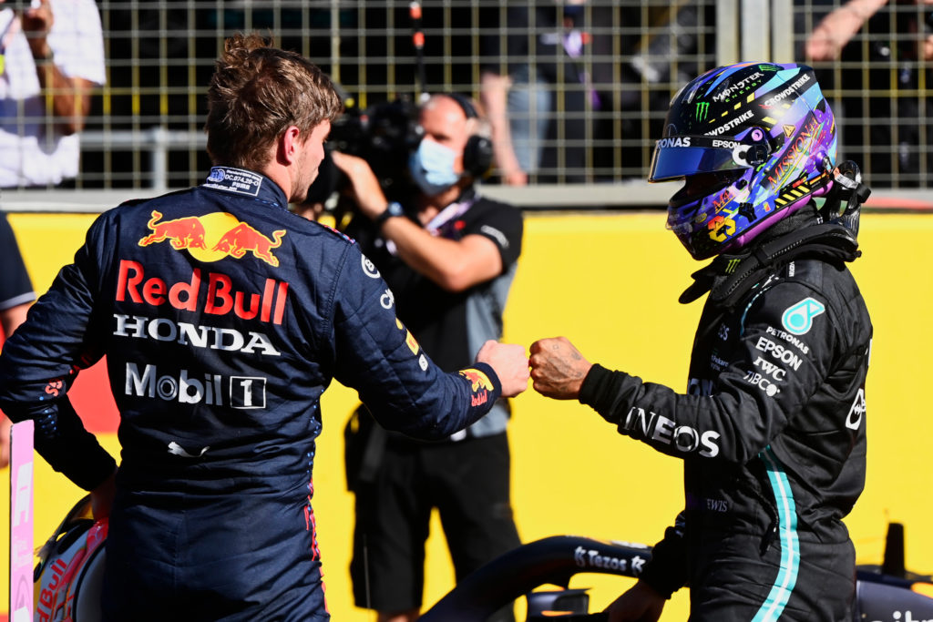 Formel 1 Max Verstappen Lewis Hamilton Red Bull Mercedes Silverstone 2021