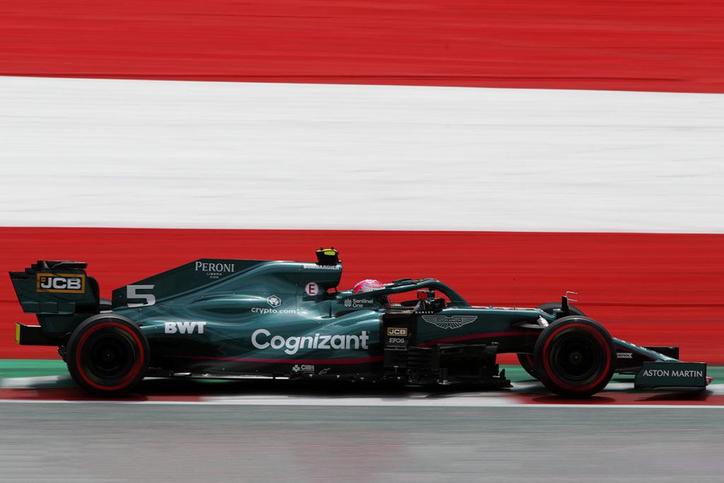 Formel 1 Sebastian Vettel Aston Martin Spielberg Österreich GP 2021 FP2