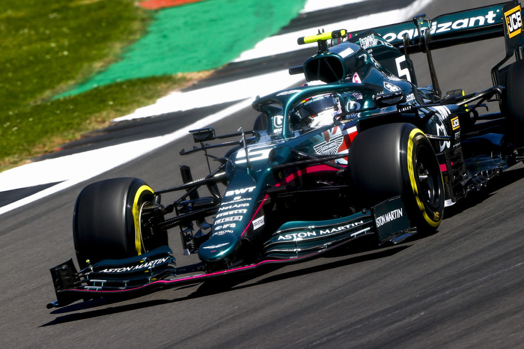Formel 1 Sebastian Vettel Aston Martin Silverstone 2021