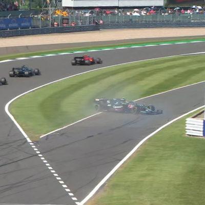 Formel 1 Sebastian Vettel dreher Silverstone 2021
