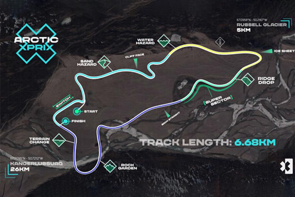 Extreme E Arctic xPrix 2021 Strecke