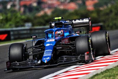 Formel 1 Esteban Ocon Alpine Ungarn GP 2021 Rennen