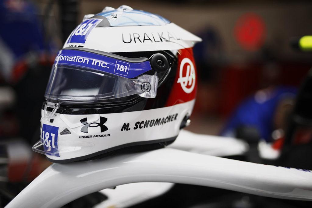 Formel 1 Mick Schumacher Helm Spa 2021 01