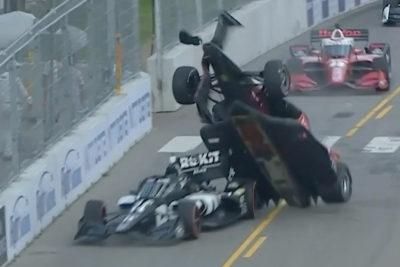 Marcus Ericsson Indycar Crash