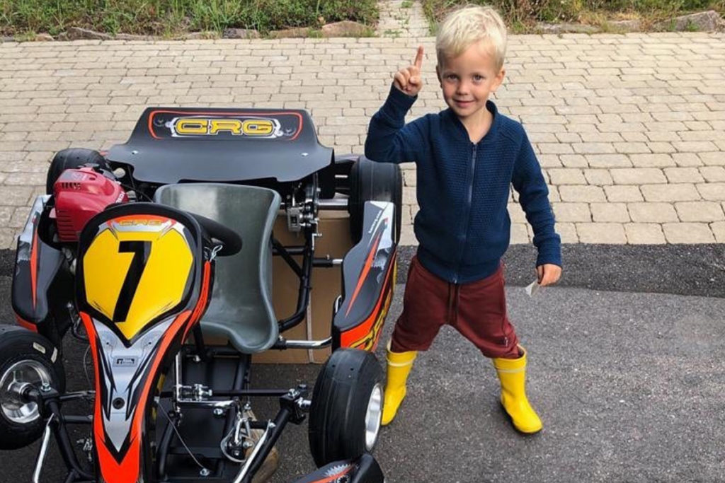 Kimis Sohn Robin Räikkönen. Credit: Kimi/instagram