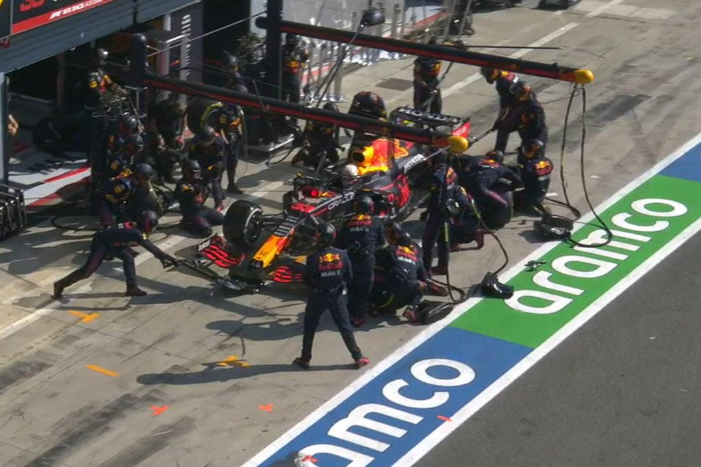 F1 Verstappen Red Bull Monza Box 2021
