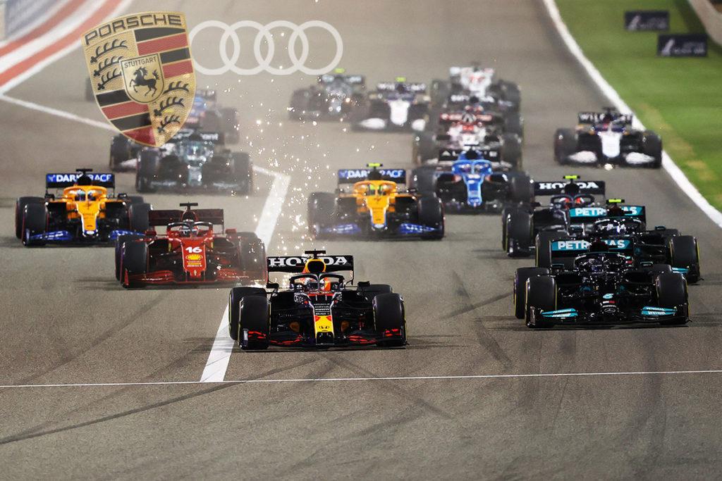Formel 1 Start Audi Porsche Logo