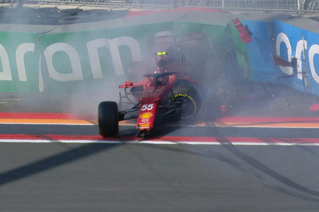 Formel 1 Carlos Sainz Ferrari Zandvoort Crash