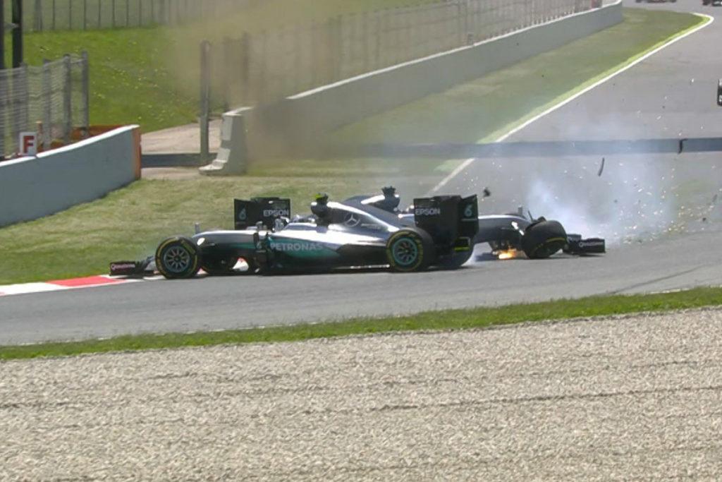 Formel 1 Hamilton Rosberg Crash Barcelona 2016