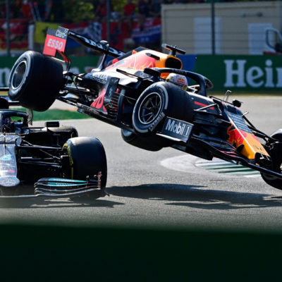 Formel 1 Hamilton Verstappen Crash Monza Italien 2021