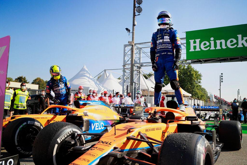 Formel 1 McLaren Doppelsieg Monza Italien 3 2