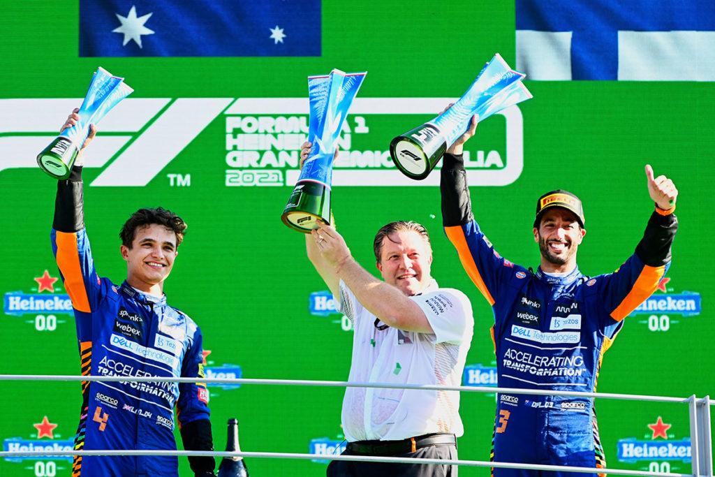 Formel 1 McLaren Daniel Ricciardo Lando Norris Monza Italien GP 2021