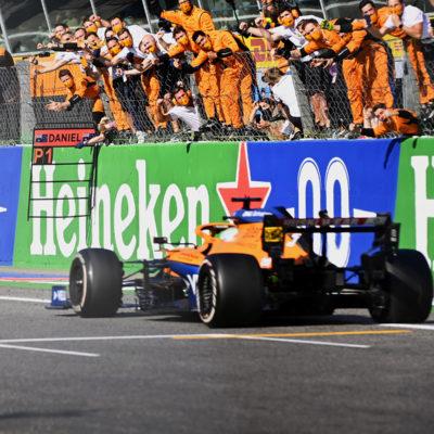 Formel 1 Daniel Ricciardo McLaren Monza Italien GP 2021 Sieger