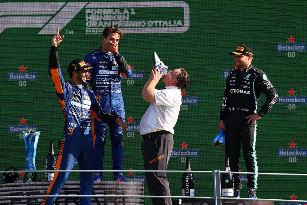 Formel 1 McLaren Doppelsieg in Monza. Credit: McLaren