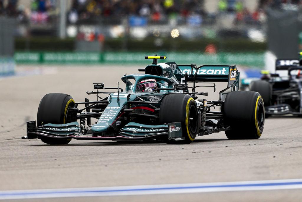 Formel 1 Sebastian Vettel Aston Martin Sotschi Russland GP 2021