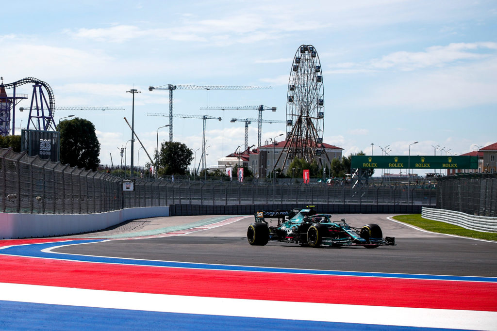 Formel 1 Sebastian Vettel Aston Martin Sotschi Russland FP1