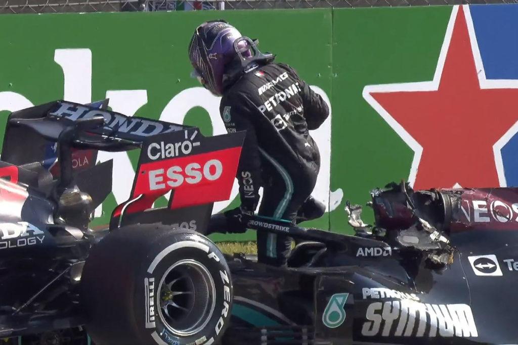 Formel 1 Verstappen Hamilton Crash Monza 2021 02 WM-Duell 2021