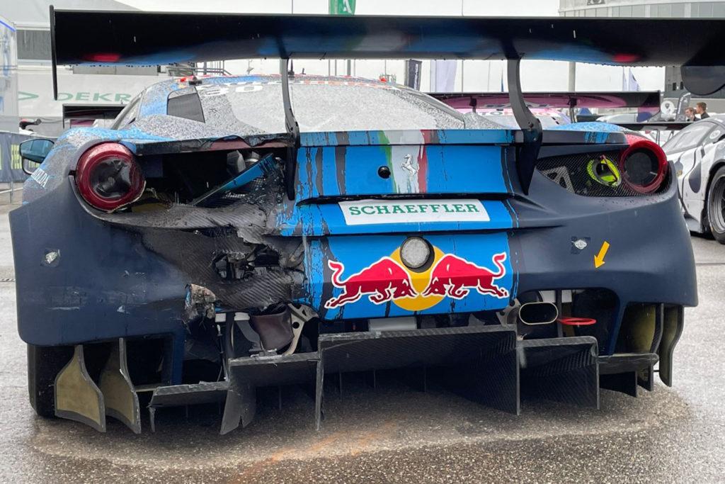 DTM Lawson Ferrari Feuer Hockenheimring 2021