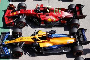 Formel 1 Ferrari McLaren 2021